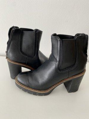 Deichmann Chelsea Boot noir-marron clair