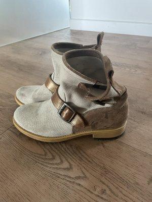 Nobrand Chelsea Boot brun-crème