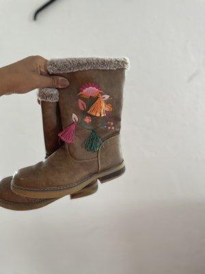 Krótkie buty jasnobrązowy-różowy
