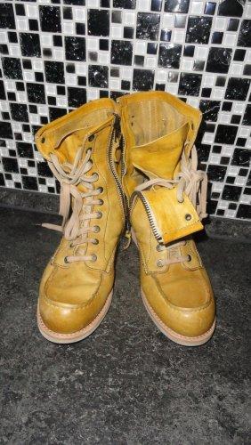 Chelsea laarzen donkergeel Leer