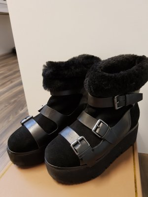 ASH Snow Boots black leather