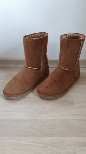 C&A Basics Snow Boots cognac-coloured
