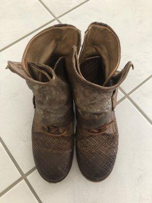 Air Step Low boot doré-bronze cuir