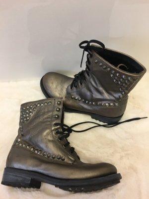 ASH Low boot gris brun cuir