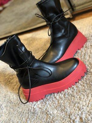 Asos Chelsea laarzen zwart-rood