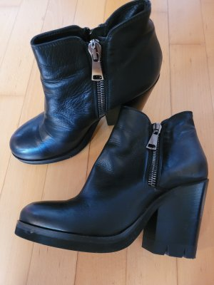 Strategia Low boot noir cuir