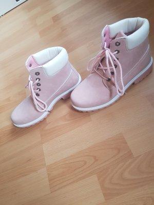Botas de tobillo blanco-rosa