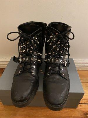 Boots Bikerstiefel Stiefel Nieten