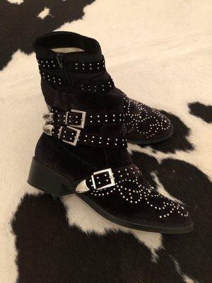 Boots Buffalo schwarz Silber 38 Stiefel stiefelette Mode Fashion Chelsea