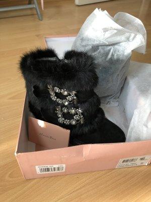 Alma en Pena Low boot noir pelage