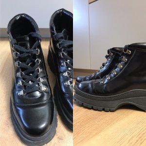 Boots #Chunky Boots #Combat Boots aus London 8/41,5 Leder schwarz