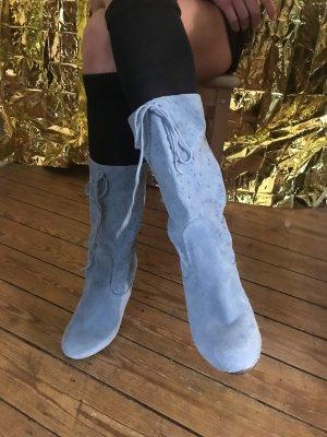 Sanetta Korte laarzen azuur