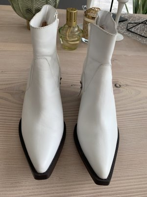 Boots Cowboy Festival weiß Gr. 40 Coachella Zara