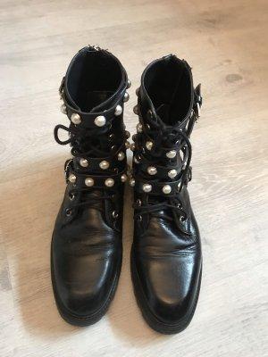 Zara Krótkie buty czarny