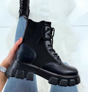 Boots Damen schwarz