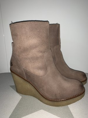 Boots - Gefütter- Keilabsatz - Leder - Neu - NP 183€