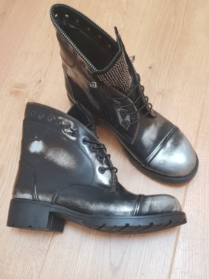 real rubber Chukka boot noir-gris anthracite
