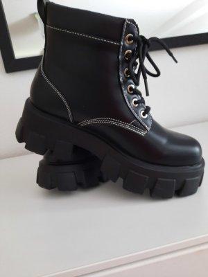 Made in Italy Botas con cordones negro