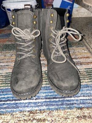 Deichmann Low boot gris-brun