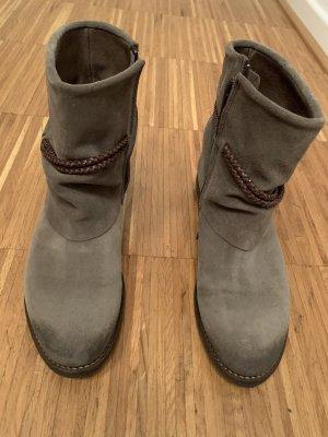 Boots grey-dark brown