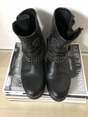 Botas de tobillo negro Imitación de cuero