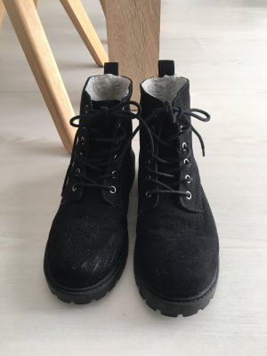 H&M Divided Winter Booties black