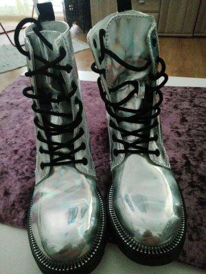Catwalk Bottines à lacets argenté