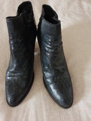 Tronchetto nero-grigio scuro Pelle