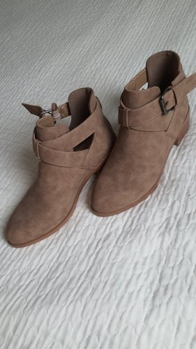 JustFab Low boot marron clair-beige