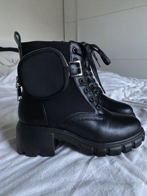 JustFab Chukka boot noir-argenté