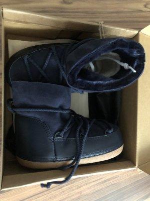 Boots Lammfell IKKII dunkelblau