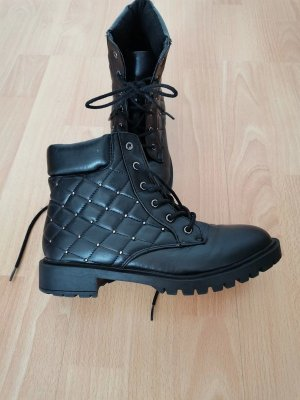 Primark Lace-up Boots black leather