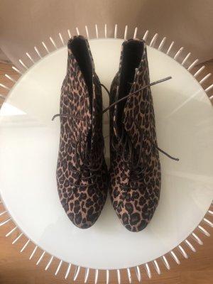 Boots | Leopardenmuster | Braun Schwarz