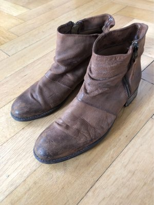 Boots Mango Leder braun