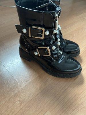 Femme Low boot noir-blanc