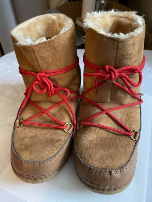 New Yorker Snow Boots brown-red