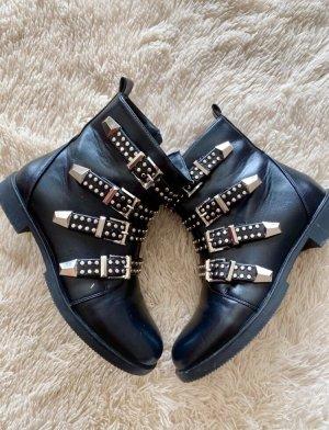 SassyClassy Chelsea laarzen zwart-zilver