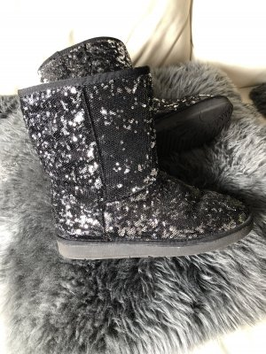 Snow Boots black-silver-colored