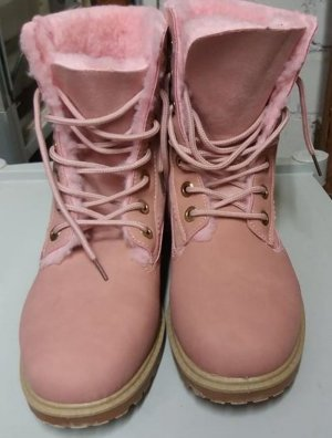 Lace-up Boots pink