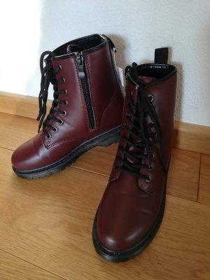 Chukka boot noir-brun rouge tissu mixte