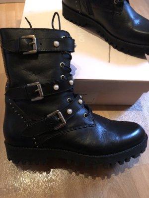 Boots * Schnürboots * Leder * schwarz * Gr 40