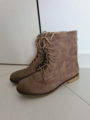 Boots Schnürschuhe Halbstiefel Stiefeletten in braun Gr. 37