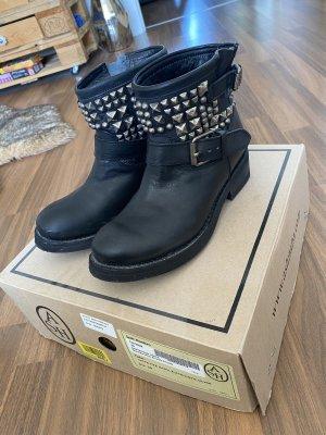 ASH Desert Boots black-silver-colored