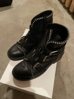 Bruno Premi Ankle Boots black-silver-colored