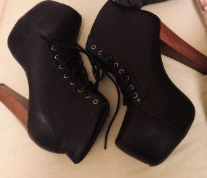 Boots schwarz/braun