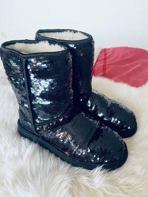 Boots schwarz|Pailletten|UGG