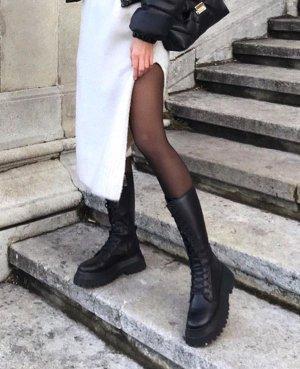 Zara Botte à plateforme noir