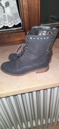boots - stiefelette mit innenfutter und Strass steinchen
