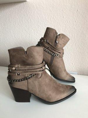Lucky Shoes Santiag brun-kaki