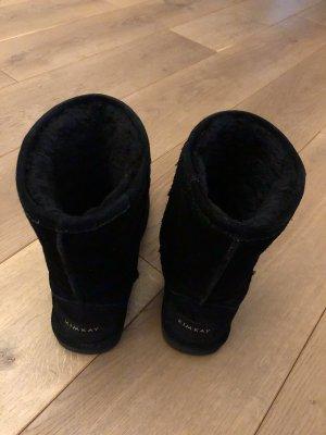 Boots Stiefeletten aus Leder gefüttert